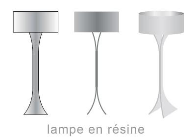 lampe résine