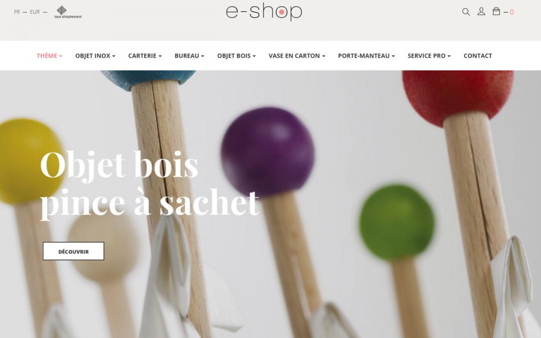 site internet design objet